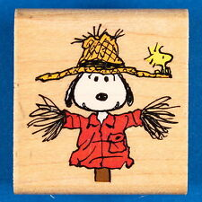 Peanuts Scarecrow Snoopy Stamp by Rubber Stampede - Halloween Comic Woodstock