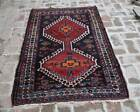 3'5 x 5'7 Ft Vintage hand knotted very rare armenian rug, Natural dye tribal rug