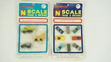 Bachmann N Scale Construction Set 7018 & Auto Car Set 7020 New B35