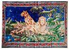 Vintage carpet with lions USSR carpet Soviet carpet Russian carpet Wall decor