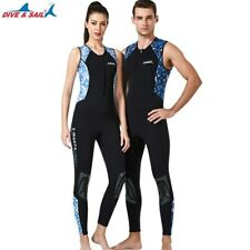 3mm Men Women Sleeveless John Neoprene Diving Surfing Swimming Wetsuits