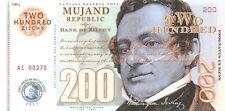 Mujand Republic Banknote 200 Zilchy 2013 Unc Specimen, Private, Note
