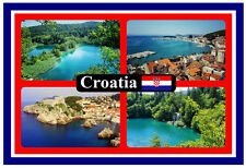 CROATIA - SOUVENIR NOVELTY FRIDGE MAGNET - FLAGS / SIGHTS - BRAND NEW - GIFT