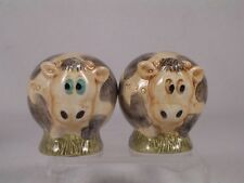 Harmony Kingdom / Ball Pot Bellys/Belly 'Cows' Salt & Pepper Shakers #Spco Nib