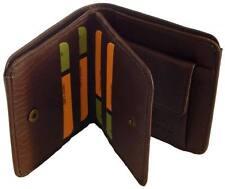 Wallet Unisex Men & Women Square Money Purse Leatherette Material Orbit 2852 BRN