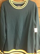 NWT Arizona 6137 Leigon Blue Ringer Sweatshirt Mens L