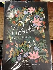 New/Sealed Rifle Paper Co 2017 Paradise Gardens Illustrated Wall Calendar