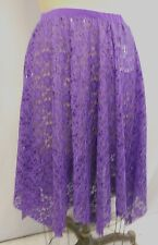 PURP LACE/MESH with SEQUINs HANDKERCHIEF DANCE COSTUME SKIRT-Size ADULT SIZE XL