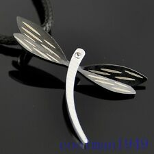 Charm stainless steel dragonfly pendant necklace ST10