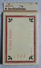 Vintage Hallmark Holiday Invitation Greeting Card Pack Holly