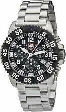 NEW Luminox 3182 Navy Seal Colormark Chronograph Black Dial Stainless Watch