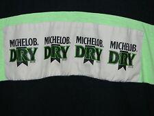 VTG 1980's Michelob Dry Beer Black & Neon Green Men's Adult Size Large L T-Shirt
