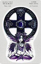 CELTIC LOTUS FAERY Fairy Sticker Car Decal Myka Jelina goth gothic pagan faerie