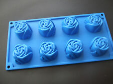 Stampo IN SILICONE 8 TAZZA ROSE PAN / VASSOIO / soap-sponge CAKE TIN
