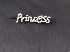 Womens Girls PRINCESS clear Rhinestone Bobbie Pin Sparkle recital Fun Kids