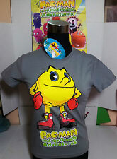 PAC-MAN T-SHIRT TG.12 ANNI MAGLIETTA BANDAI AND GHOSTLY ADVENTURES ORIGINALE