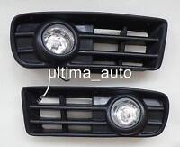 VW GOLF MK4 FRONT BUMPER GRILLE FOG LIGHTS LAMPS NEW