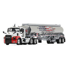 FIRST GEAR MACK WHITE RED ANTHEM CAB W/42' FUEL TANK TRAILER 1/64 60-0538 DCP