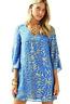 Lilly Pulitzer 00 Miri Silk Caftan Dress Lapis Blue Palm Burst NWOT