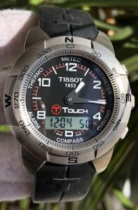 Tissot Titanium T-touch Chronograph Quartz Swiss Men's Wristwatch Z253-353
