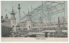 CONEY ISLAND PC Postcard NEW YORK CITY Amusement Park LUNA PARK Hippodrome
