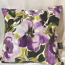Cynthia Rowley HTF Purple Watercolor Floral Throw Pillows Set of 2  18 X 18 A521