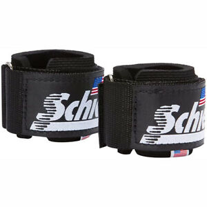 Schiek Sports Model 1100-WS Extra-Wide Wrist Straps - Black