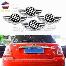 For Mini Cooper Checker Car License Plate Frame Bolts Screw Caps Cover 4pcs