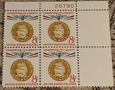 Scott # 1169 - Us Plate Block Of 4 - Guiseppe Garibaldi - Mnh -1960