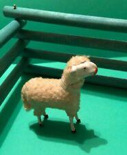 New ListingAdorable Vintage Christmas Woolly Sheep Lamb Nativity Putz Germany Wooden Legs