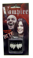 DELUXE  VAMPIRE TEETH costume play joke item vampires QUICK & EASY fake FANGS