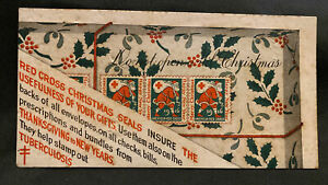 1916 Vintage Ink Blotter Christmas Santa Clause Red Cross Stamp Out Tuberculosis