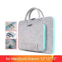 Wool Felt Laptop Bag 11 13 15 17inch Tablet Mouse Bags Briefcase for Laptop PC