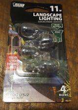 4 FEIT Electric 11-Watt / 12V / Wedge Base Landscape Light Bulbs - LV522 - NEW