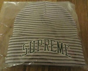 Supreme Rainbow Stripe Beanie Cap Pink FW21 Supreme New York 2021 Brand New