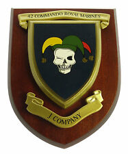 42 COMMANDO ROYAL MARINES J COMPANY HAND MADE REGIMENTAL STYLE MESS PLAQUE