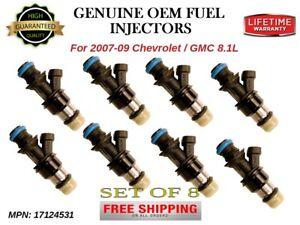 8x Fuel Injectors for 2007-09 Chevrolet GMC 8.1L /OEM