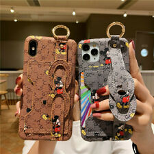 For iPhone 12 11 Pro Max XS X Patterned Card Pocket Kickstand Cartoon Case Cover