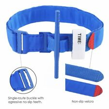 First Aid Tourniquet Medical Emergency Buckle Quick Slow Release Strap Camp Blue