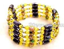 "SALE Round 6mm Green Cloisonne Black Magnetic Beads long 30""  bracelet-bra282"