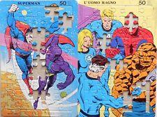 LOTTO  PUZZLE MALIPIERO MARVEL DC UOMO RAGNO SUPERMAN FANTASTICI 4 DA RECUPERO