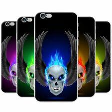 Flaming Fire Skulls Snap-on Hard...
