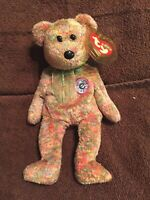Speckles Ty Beanie Baby Bear MWMT Internet Bear Ty Speckles Beanie Baby