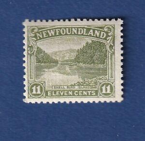 Newfoundland stamps #140 11c Olive Green Shell Bird Island F/VF mnh