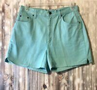 Bill Blass Jeans Womens Mint Green Shorts Size 12 100% Cotton