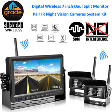 Wireless Digital Backup Camera with Monitor System Split Screen For RV VAN TRUCK