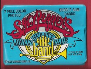 1978 Donruss Sgt. Pepper's Lonely Hearts Club Band Wax Pack