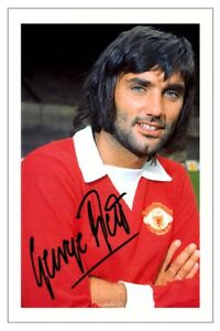 GEORGE BEST Signed Autograph PHOTO Fan Gift Print MANCHESTER UNITED Soccer