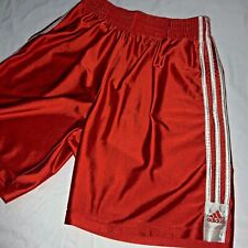 Vintage Rare Adidas Basic 3 Stripe Basketball Shorts Orange Dazzle Silky Medium