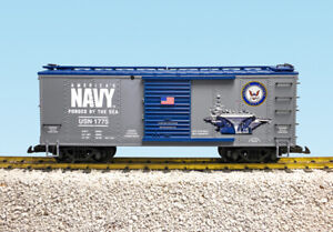 USA Trains G Scale R19130 US MILITARY SERIES US NAVY BOXCAR